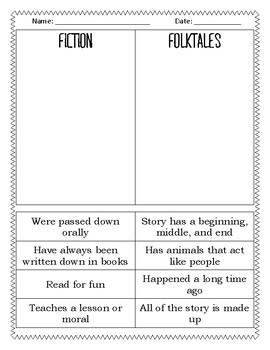 Fiction vs. Folktale Sort
