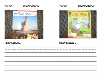 Fiction vs. Informational Text Differentiated Mini-Book