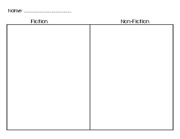 Fiction vs. Non-Fiction Sort