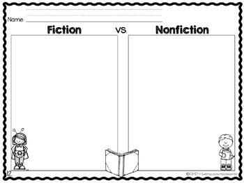 Fiction vs. Nonfiction- Activities Unit! by Sweet Sounds of Kindergarten