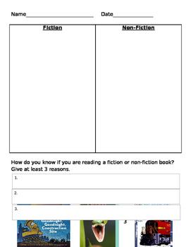 Fiction vs Nonfiction Assessment
