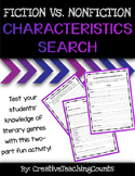 Fiction vs. Nonfiction Characteristics Search