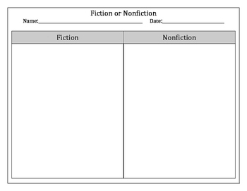Fiction vs. Nonfiction Comparison