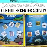 Fiction vs. Nonfiction File Folder Center