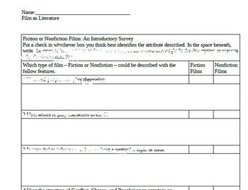 Fiction vs Nonfiction Film Survey