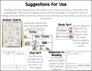 FREEBIE Fiction vs. Nonfiction Mini-Unit