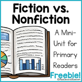 FREEBIE Fiction vs. Nonfiction Mini-Unit