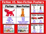 Fiction vs. Nonfiction Poster Set (10 Different Posters +