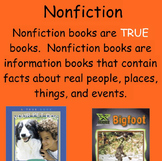 Fiction vs. Nonfiction Smart notebook lesson - Elementary Library or ELA class