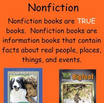 Fiction vs. Nonfiction Smart notebook lesson - Elementary