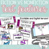 Fiction vs. Nonfiction Text Features Literacy Activity with Digital Copy!