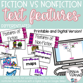Fiction vs. Nonfiction Text Features Literacy Activity