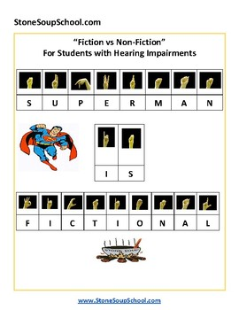 Fiction vs Nonfiction for Hearing Impaired with ASL - American Sign Language