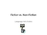 Fiction vs. nonfiction: Powerpoint