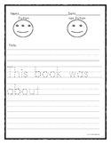 Fiction/Non-fiction Kindergarten Writing Response Template