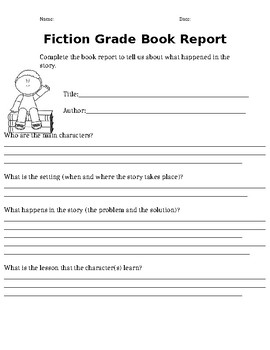 Do book report 3rd grade