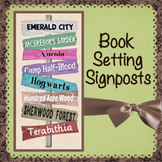 Fictional Book Setting Signs