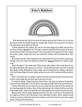 Fictional Book Stories-Ester's Rainbow