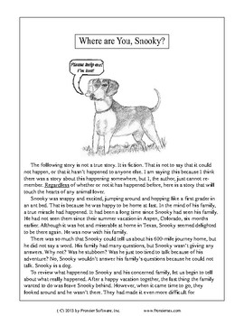Fictional Book Stories-Where are You, Snooky