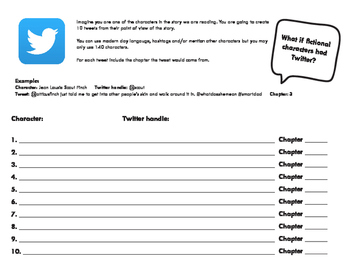 Tweets from Romeo- Twitter activity to be used with any Novel/story!