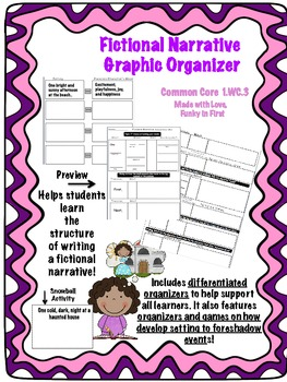 Fictional Narrative Graphic Organizers 1.WC.3