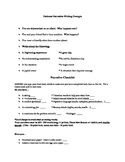 Fictional Narrative Packet - writing prompts, rubric, outl