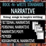 Fictional Narrative, Personal Narrative, and Memoir Writing with Song Lyrics