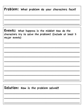 Fictional Narrative Planning Page