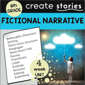 Fictional Narrative Story Writing Unit: 4 Weeks  (Grade 6 CCSS)