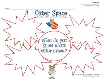 Fictional Narrative Writing- Outer Space