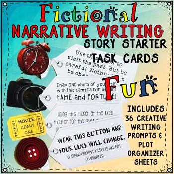 FICTIONAL NARRATIVE WRITING STORY TASK CARDS FOR MIDDLE SCHOOL ENGLISH