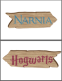 Fictional Place Direction Signs