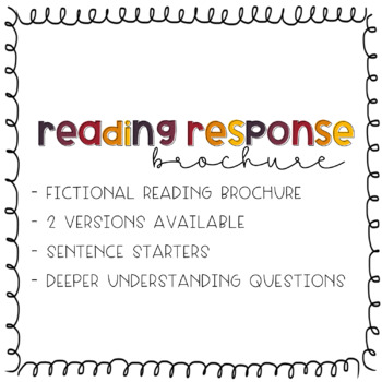Fictional Reading Response Brochure