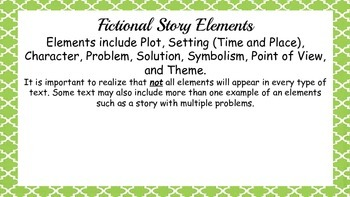 Fictional Story Elements Activities