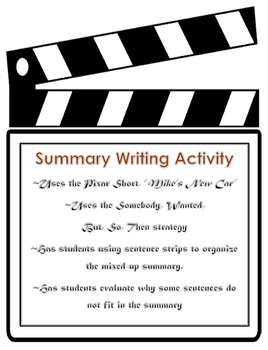 Fictional Summary Writing: Somebody, Wanted, But, So, Then