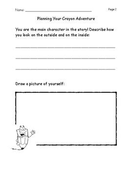 Fictional Writing- Harold and the Purple Crayon