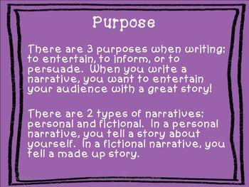 Narrative Writing Guide