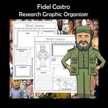 Fidel Castro Biography Research Graphic Organizer