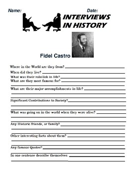 Fidel Castro Research and interview Assignment