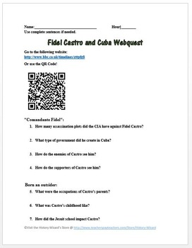 Fidel Castro and Cuba Webquest