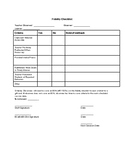Fidelity Checklist