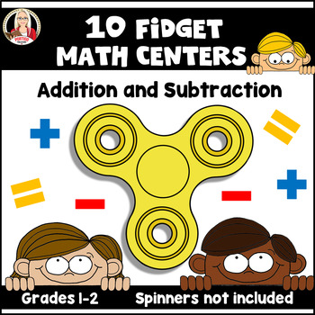 Fidget Addition and Subtraction MATH STATIONS