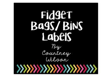 Fidget Bag/ Bin Labels