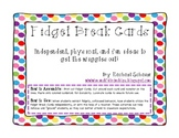Fidget Break Cards