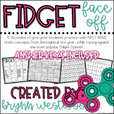 Fidget Face Off-Activities to Practice Math Concepts with