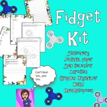 Fidget Kit: Poetry,Graphic Organizer,Selector,Journal