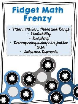 Fidget Math Frenzy- 5 Performance Tasks