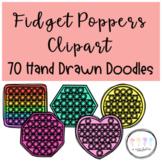 Fidget Poppers Clipart I Hand Drawn Doodles