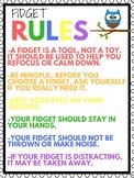 Fidget Rules Poster