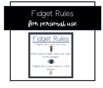 Fidget Rules -Small/Pocket Size